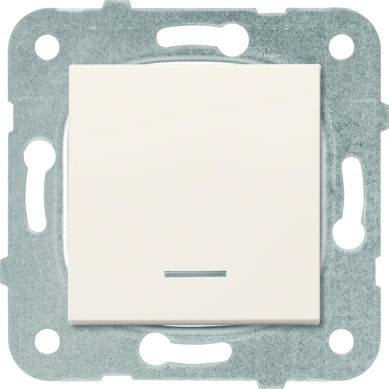 Выключатель 1кл с подсветкой крем Karre Plus