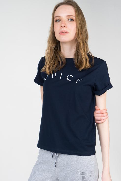 Футболка женская Juicy by Juicy Couture JWTKT179709 синяя XS фото