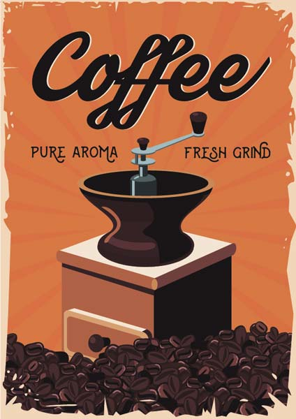 Картина на холсте 70x90 Coffee Ekoramka HE-101-440