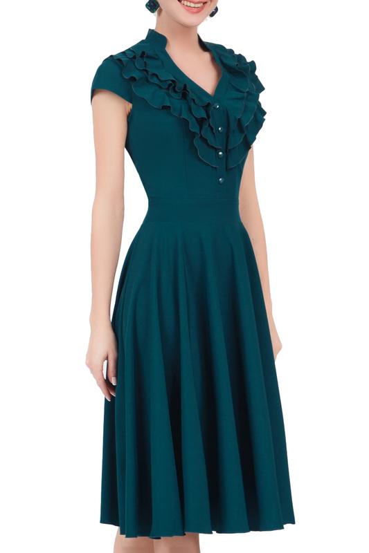 Платье женское MARICHUELL MPL00060L(FERNANDA) зеленое 48 RU фото