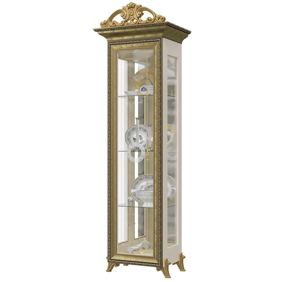 Платяной шкаф Мэри-Мебель Версаль ГВ-01К 1073094 66х48х216, слоновая кость фото