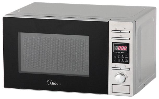 Микроволновая печь с грилем Midea AG820CP2-S silver фото