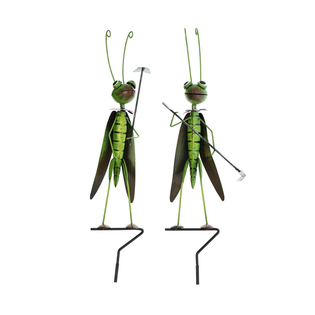 Декоративные садовые штекеры 'Кузнечики', 2шт (05624)