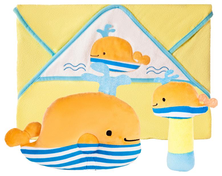 Купить Набор для купания Жирафики Веселый кит 939562, Горки и сиденья для купания