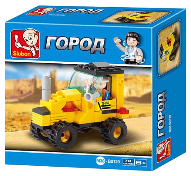 Конструктор пластиковый Sluban Трактор малый M38-B0120 70 Деталей
