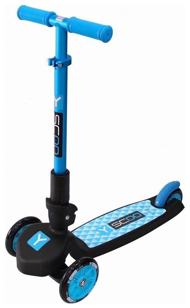 Купить Самокат трехколесный Y-Scoo rt trio maxi 120 blue, Самокаты детские трехколесные