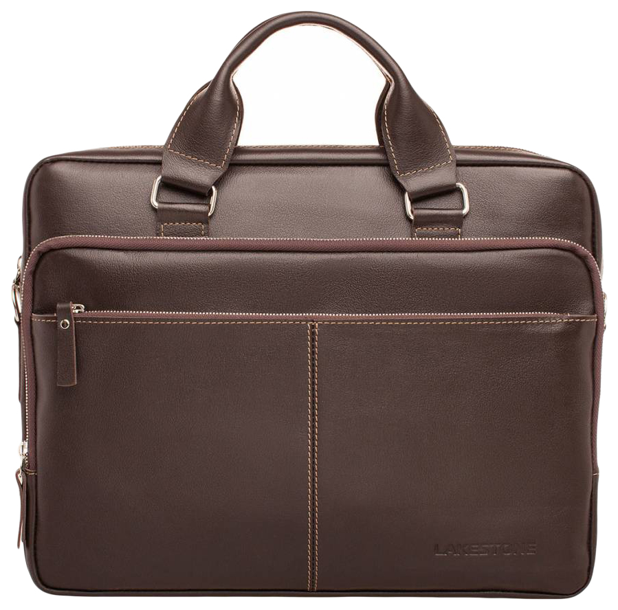 Портфель мужской кожаный Lakestone Glenroy коричневый фото