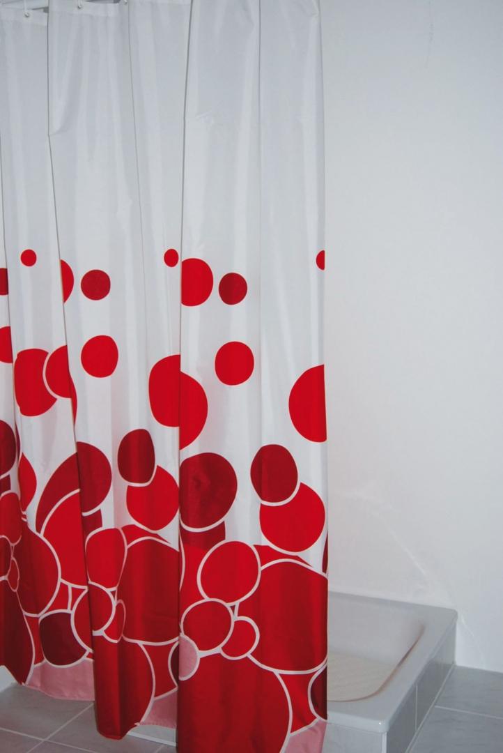 Штора для ванных комнат Kani красный 180*200,