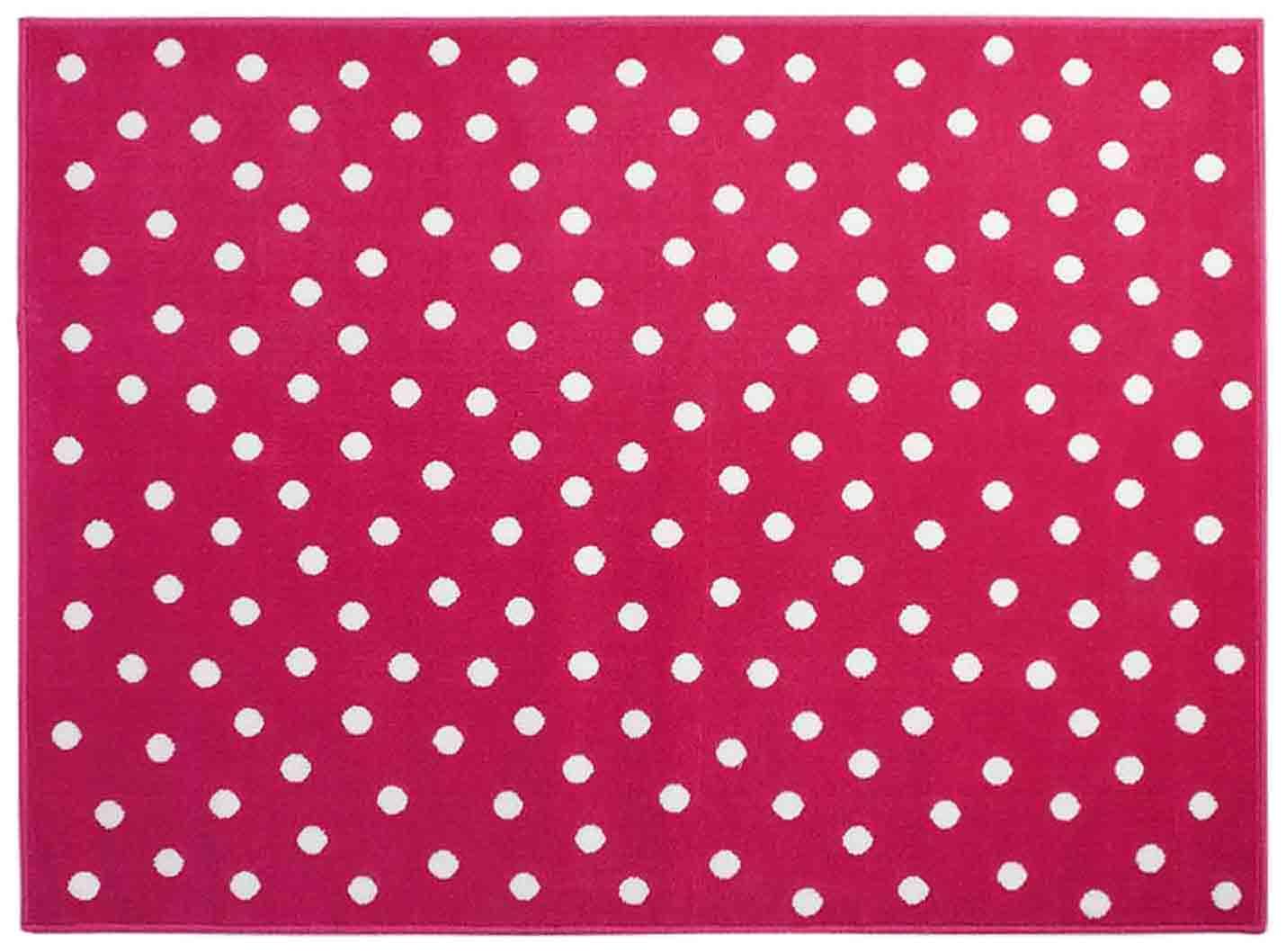 Ковер Lorena Canals акриловый Горошек Dots Fuchsia розовый