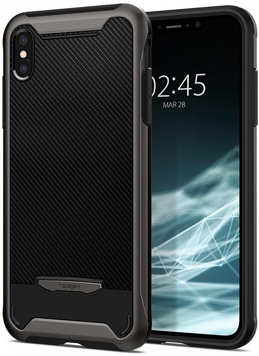 Чехол Spigen Hybrid NX (065CS24863) для iPhone Xs Max (Gunmetal)
