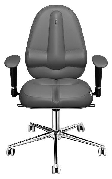 Офисное кресло Kulik System Classic Maxi, экокожа, Серый графит