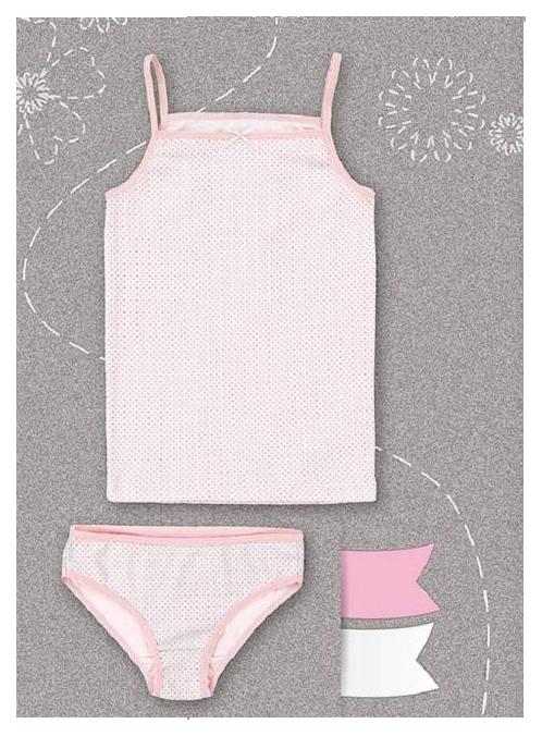 Купить Комплект Bembi майка и трусы Bembi Розовый р.122, Майки для девочек