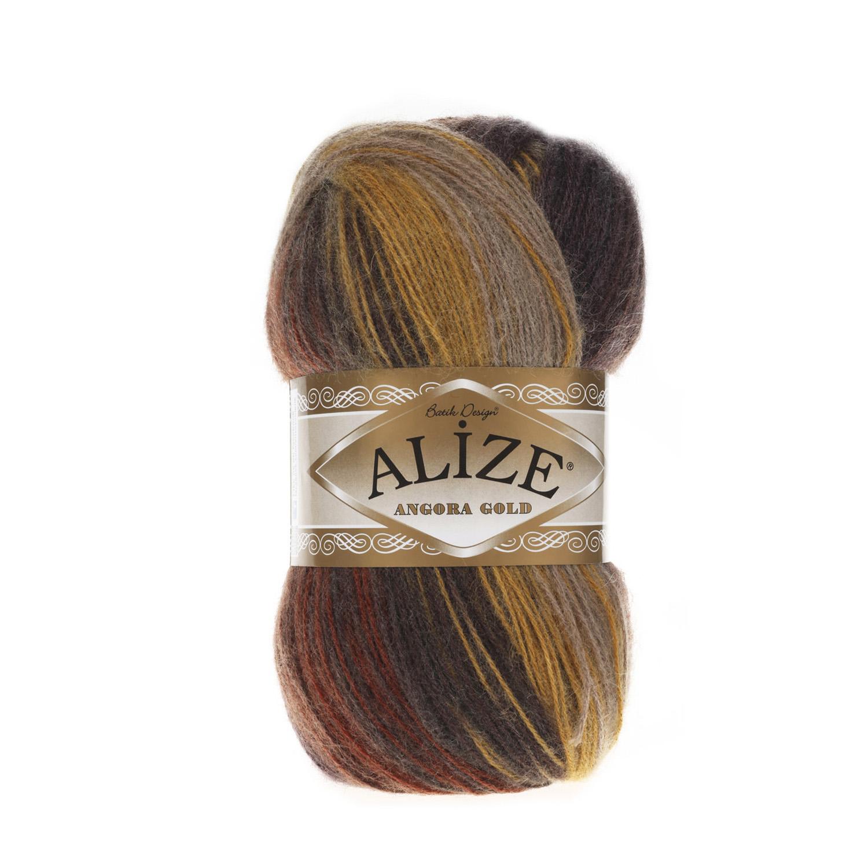 Пряжа для вязания Ализе Angora Gold Batik (20%шерсть, 80%акрил) 5х100гр цв,3379