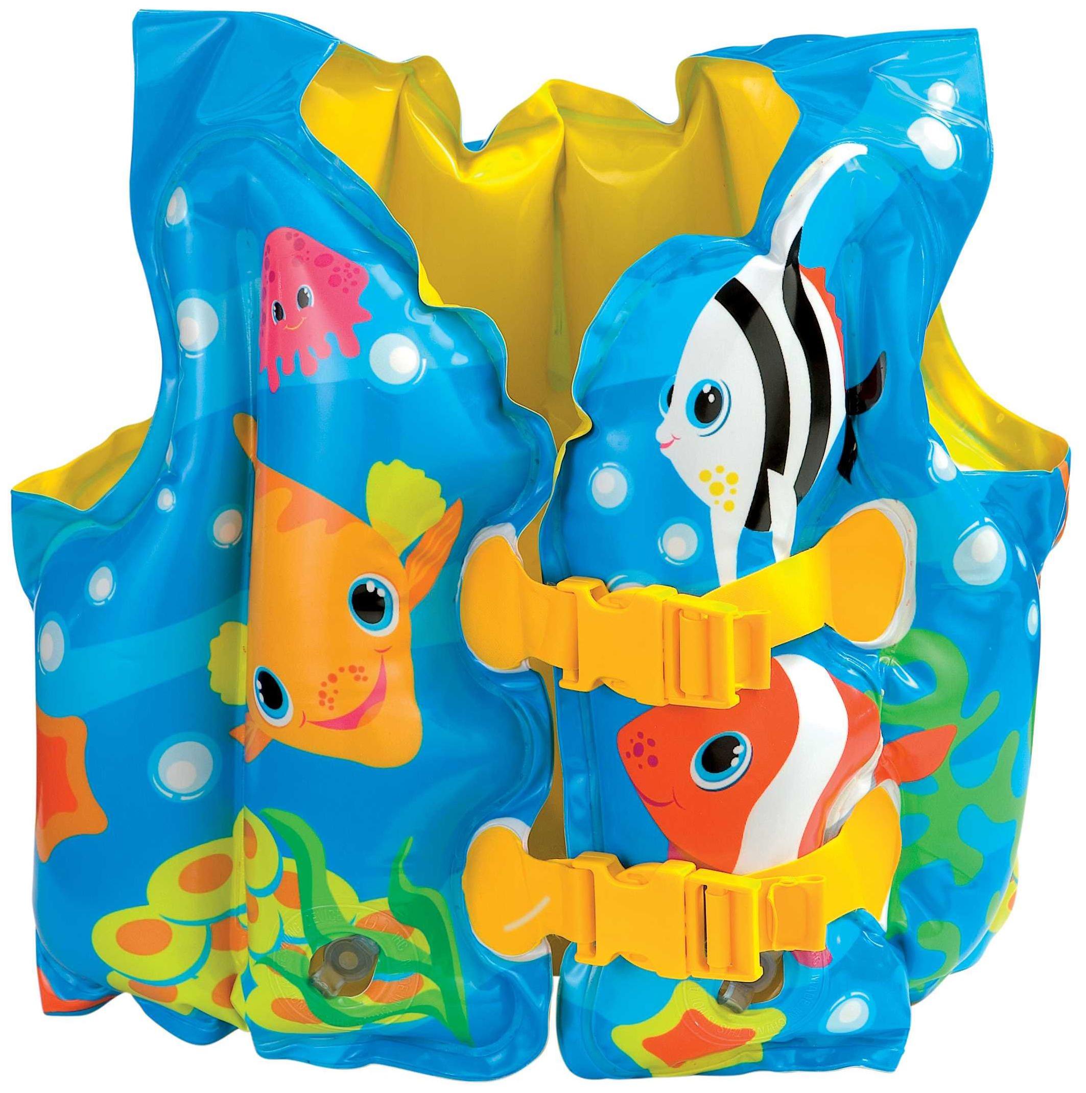 Надувной жилет Intex Морские животные