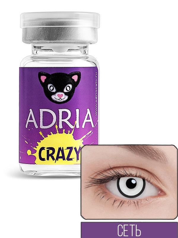 Купить Контактные линзы ADRIA CRAZY 1 линза 0, 00 msn