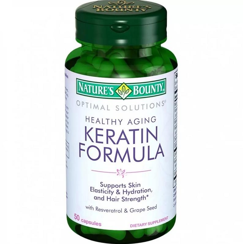 Кератин формула Natures Bounty 50 капсул