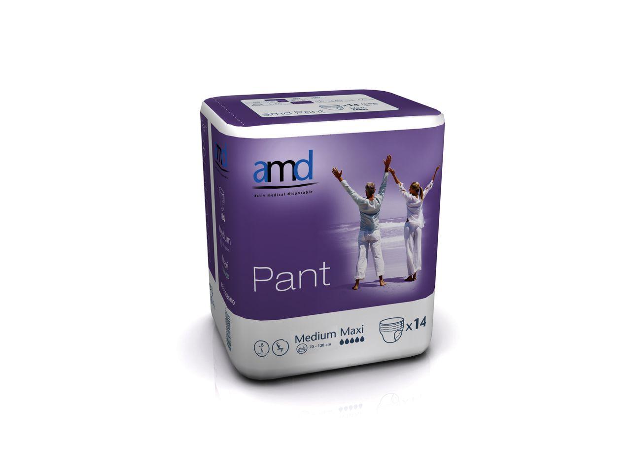 Купить Подгузники-трусики для взрослых AMD Pant MEDIUM MAXI, Подгузники для взрослых