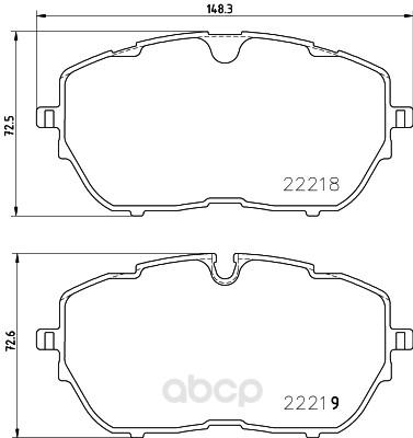 Колодки тормозные дисковые передние peugeot 308 ii 14- Textar 2221801 фото