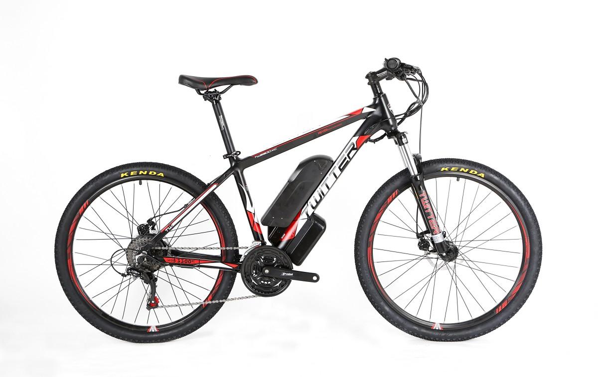 Электровелосипед Twitter VS7.0-ER100-17 черно-красный
