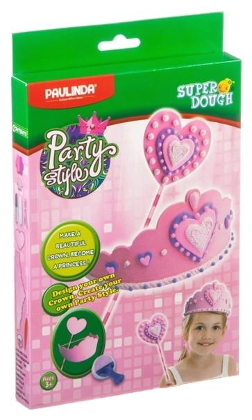 Купить Набор для лепки из пластилина Paulinda Super Dough Party Style 081491-4, Лепка
