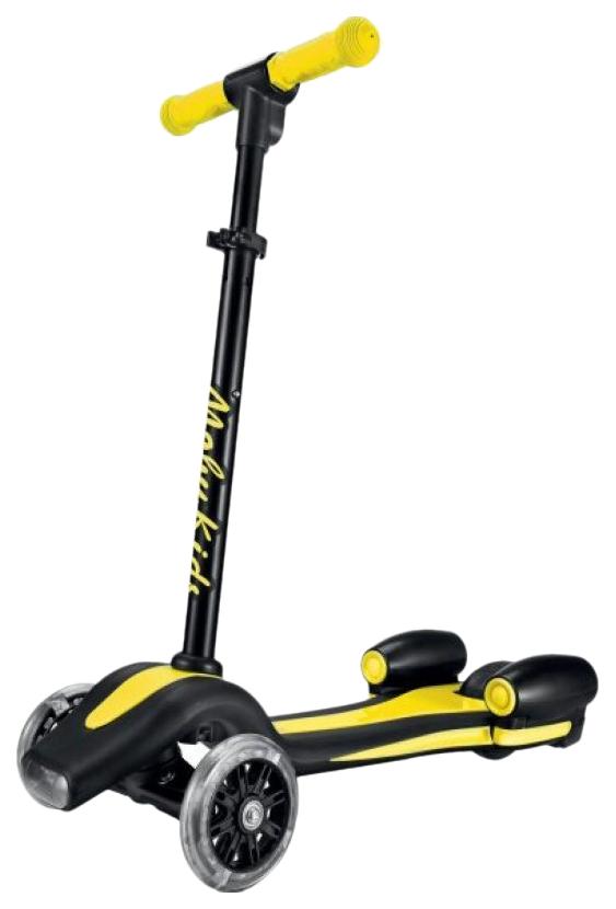 Купить Самокат Moby Kids Junior Rocket 120 мм PU Желтый, Самокаты детские трехколесные
