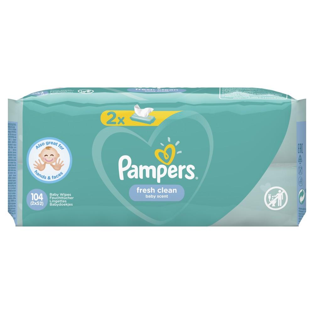 Купить Детские влажные салфетки Pampers Fresh Clean 104 шт.