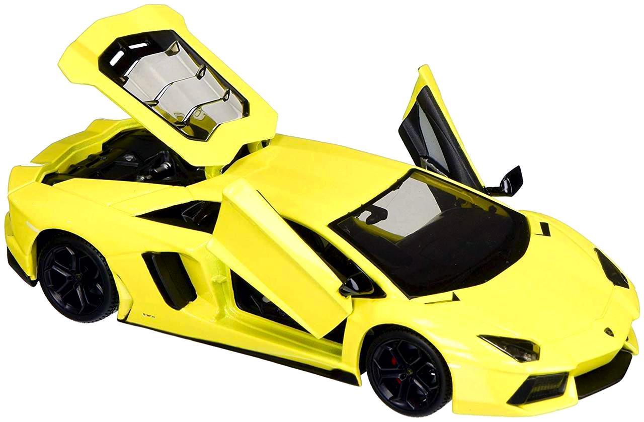 Купить Машинка Maisto жёлтая Lamborghini Aventador LP700-4 1:24, Игрушечные машинки