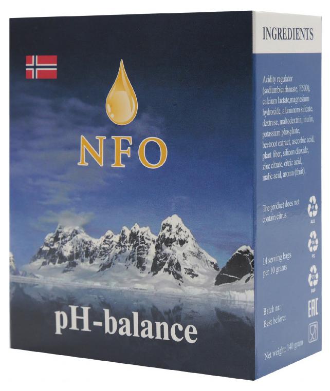 Купить NFO PH-баланс, Добавка Norwegian Fish Oil PH-баланс порошок 14 шт.