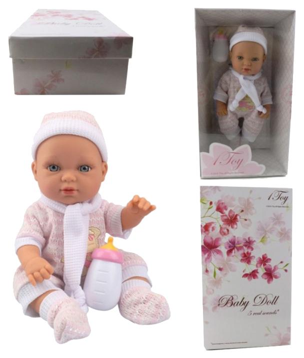 1 TOY Пупсик функциональный Baby Doll, 33 см, Т14116