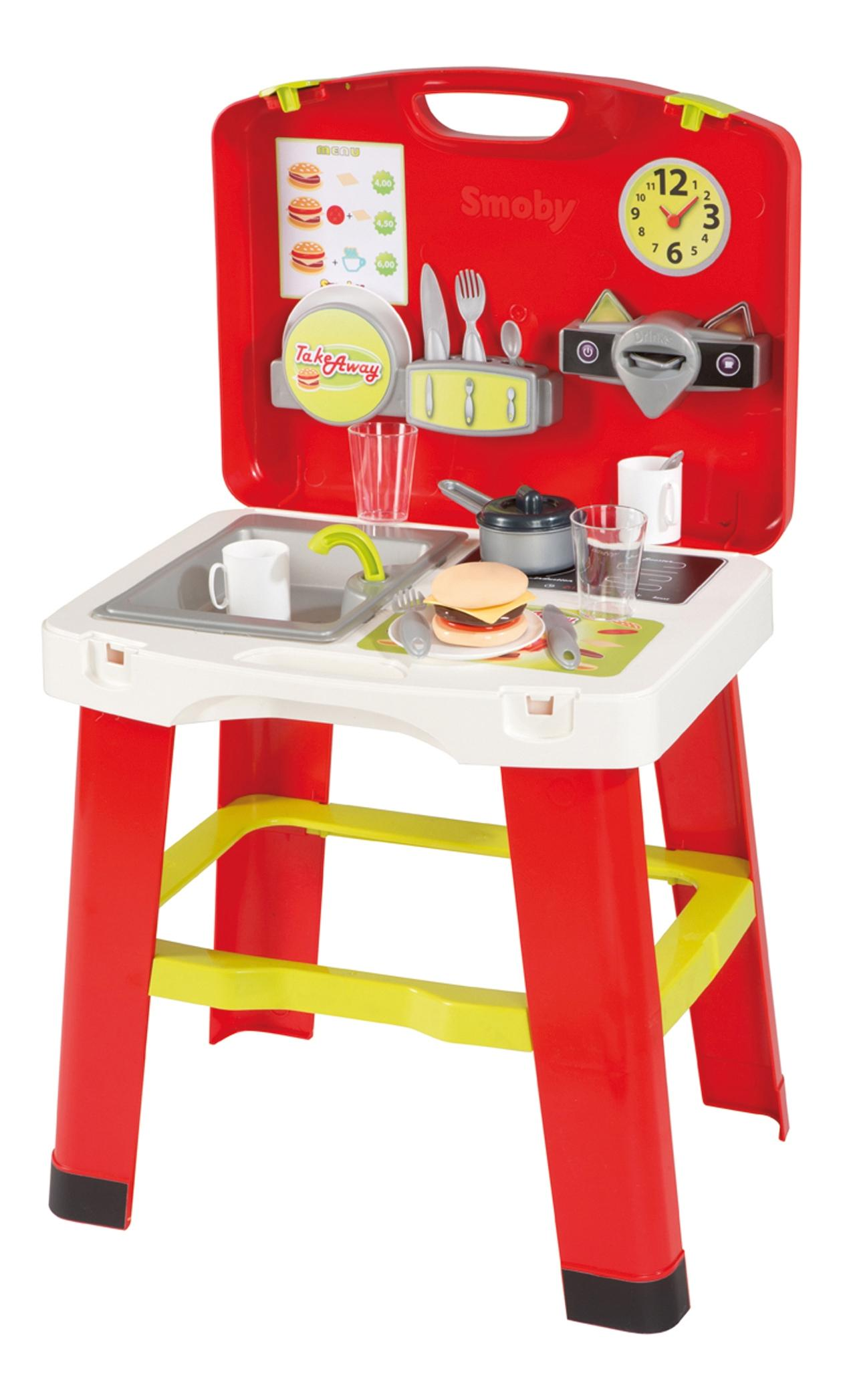 Кухня в чемоданчике, 43x35x76,5 см, 1/4 Smoby 24171