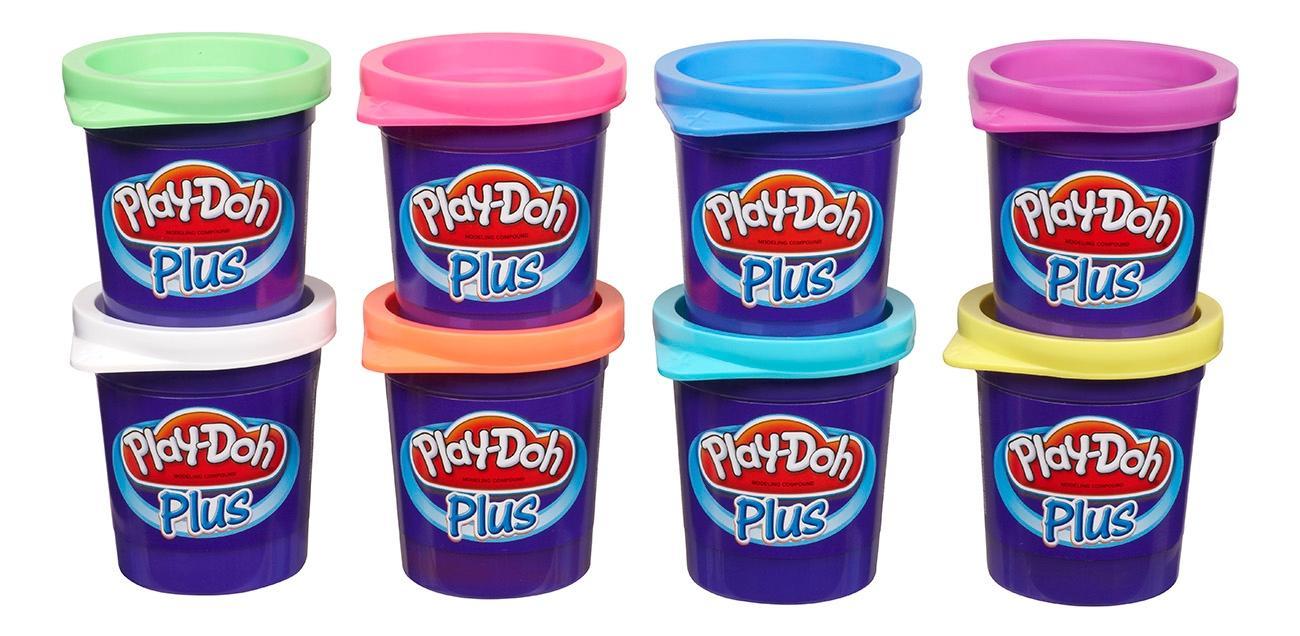 Купить Пластилин play-doh набор пластилина из 8 баночек play-doh plus a1206, Наборы для лепки Play-Doh