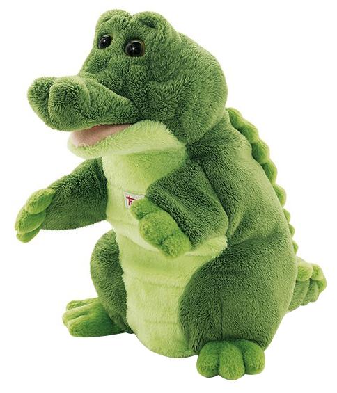 Купить Мягкая игрушка Trudi на руку Крокодил, 25 см, Мягкие игрушки животные