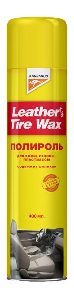 Полироль Kangaroo Leather & tire wax silicon (330118) фото