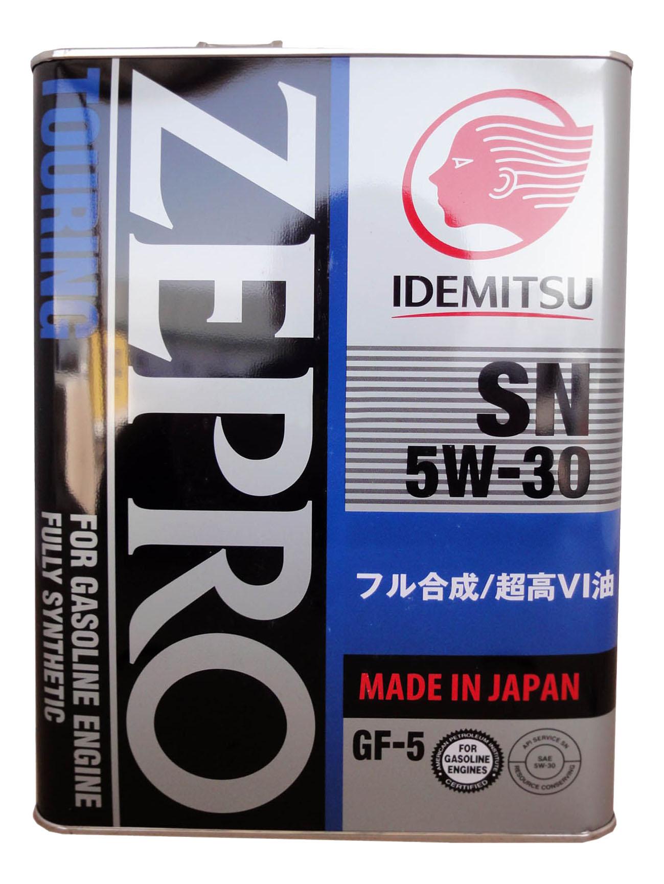 Моторное масло Idemitsu Zepro Touring SN/GF-5 5W-30 4л