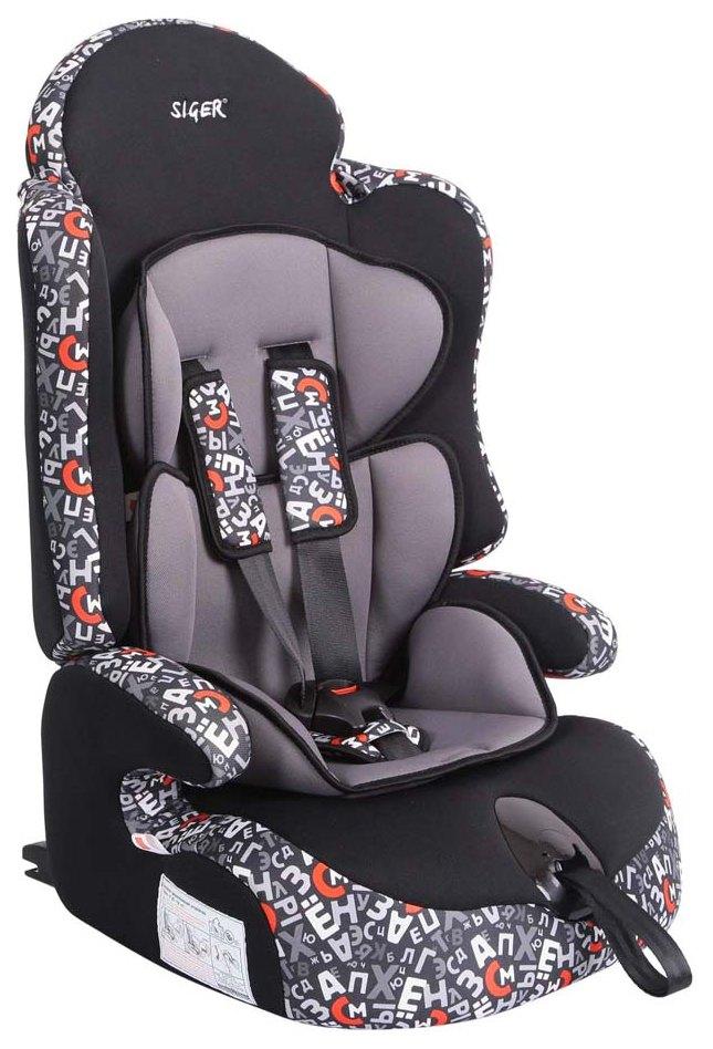 Купить Автокресло SIGER Art Прайм Isofix группа 1/2/3, Черный-Серый (KRES0282), Детские автокресла