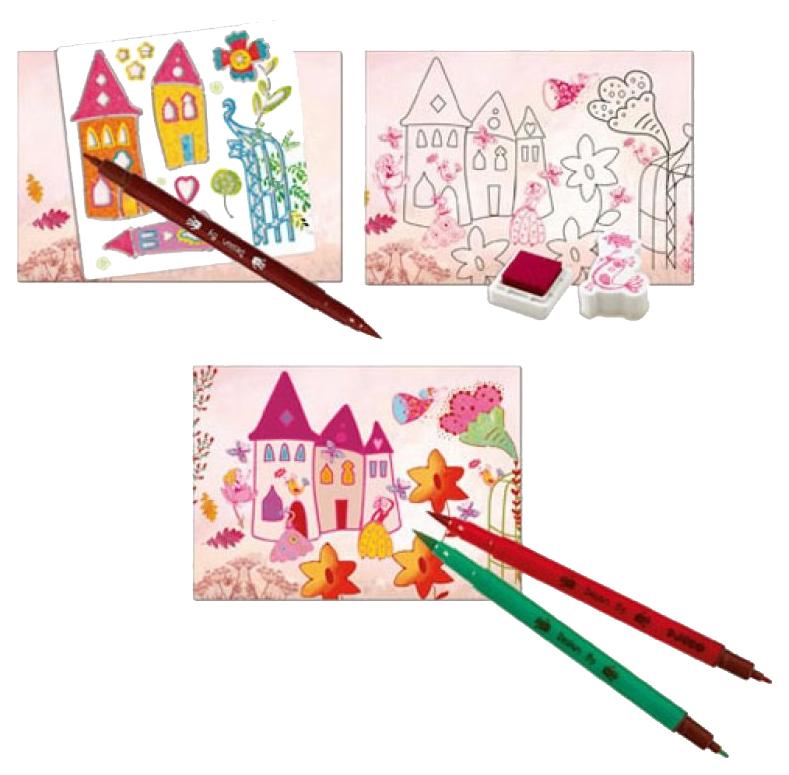 Купить Набор для рисования DJECO Создай историю Принцессы 8791, Наборы для рисования