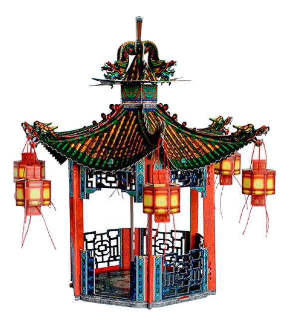 Модель для сборки Умная бумага Китайская беседка фото