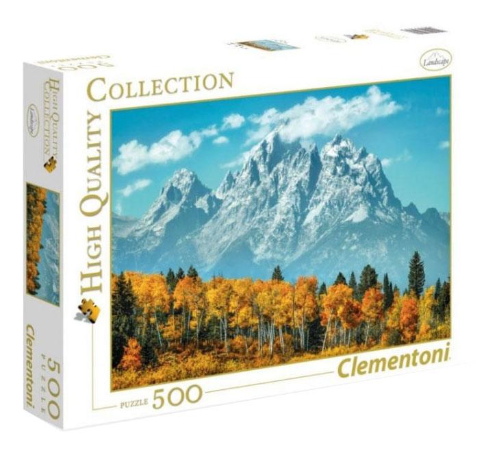 Купить США, Вайоминг гора Гранд-Титон осенью 500 деталей, Пазл Clementoni США, Пазлы