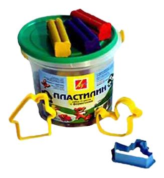 Пластилин ЛУЧ Пластилин в ведре с формочками 11 цветов 12С784-08