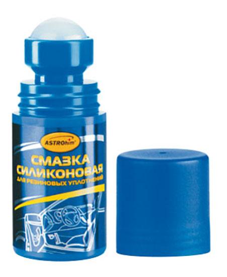 Силиконовая смазка для резиновых уплотнений с роликовым апликатором ASTROhim, 50 мл