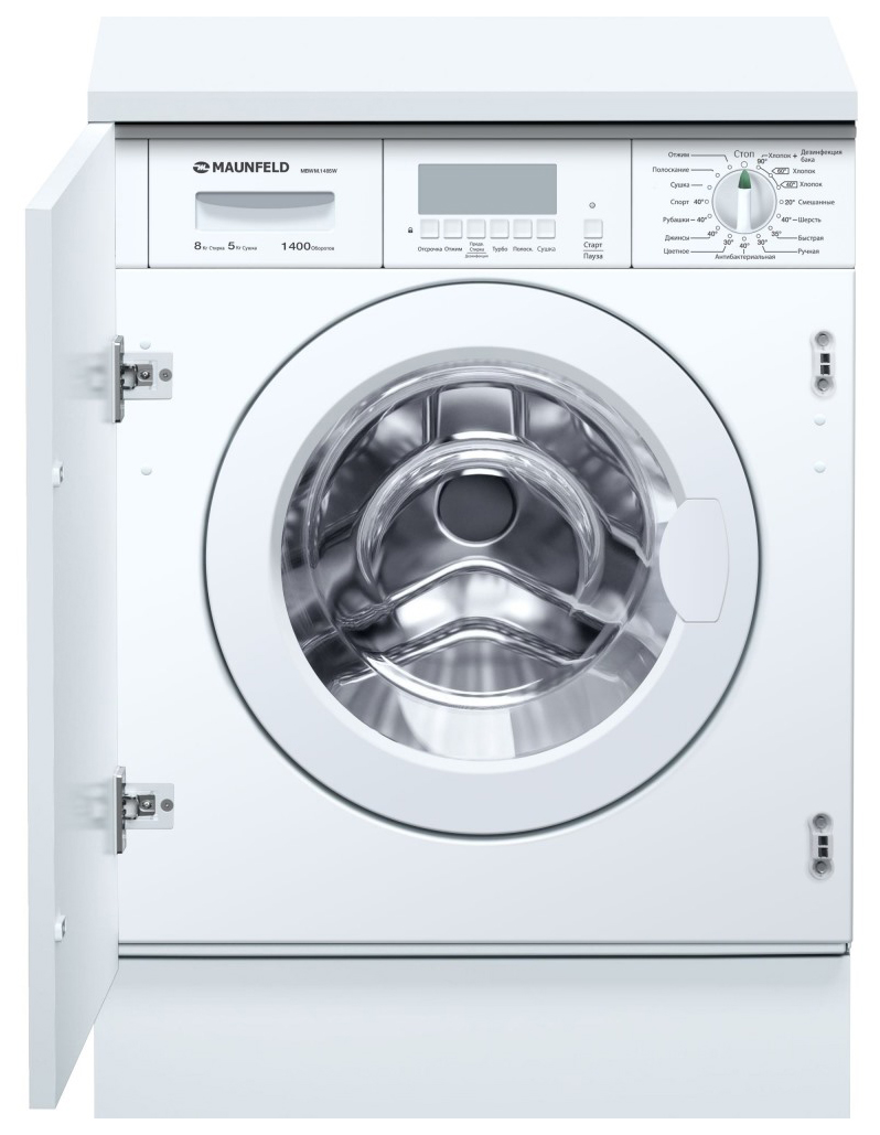 Встраиваемая стиральная машина с сушкой MAUNFELD MBWM.1485W фото