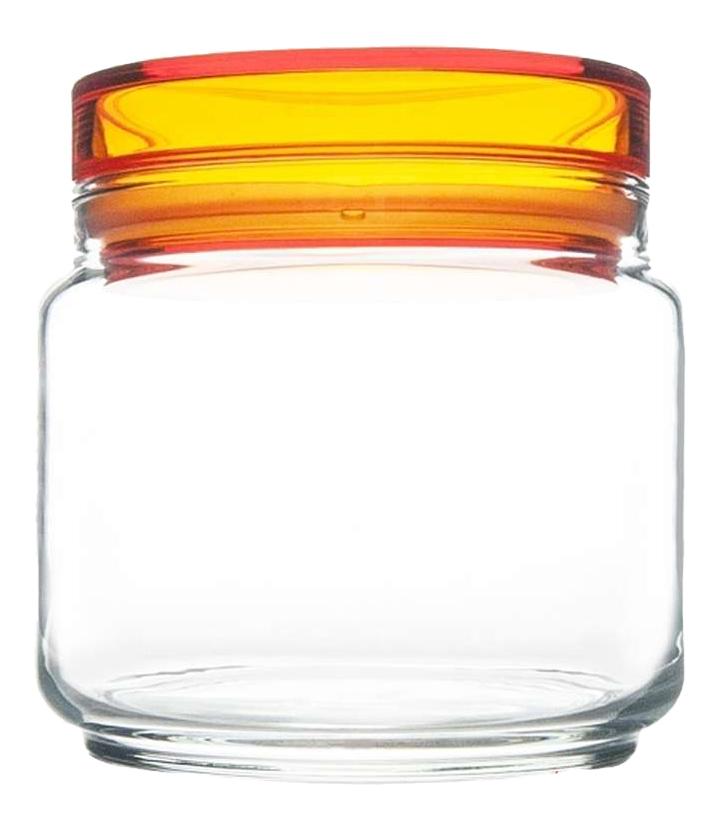 Банка для хранения Luminarc Colorlicious с оранжевой крышкой 0,5 л фото