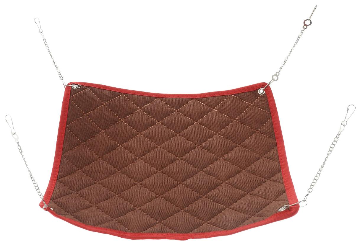 Гамак для грызунов Petto текстиль 30x30см коричневый