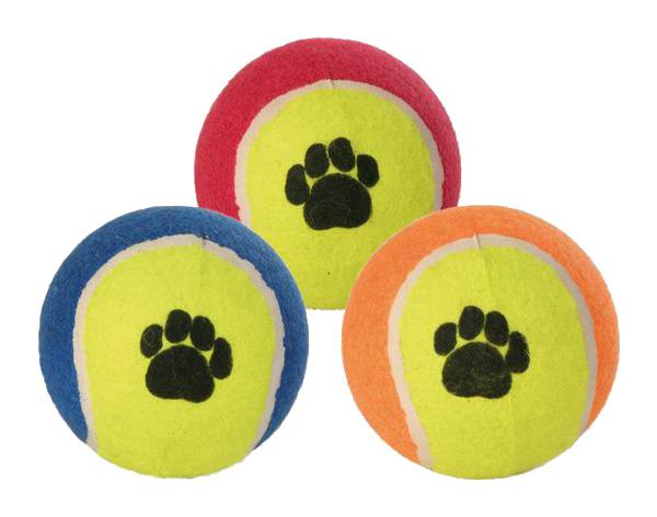 Апорт для собак TRIXIE Tennis Ball, теннисный мяч, в ассортименте, 6,4 см фото