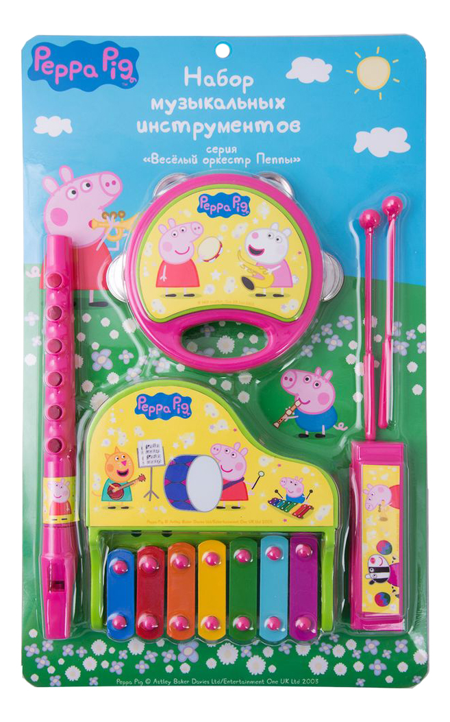 Купить Музыкальные инструменты 6 шт. Peppa Pig 30570, Детские музыкальные инструменты