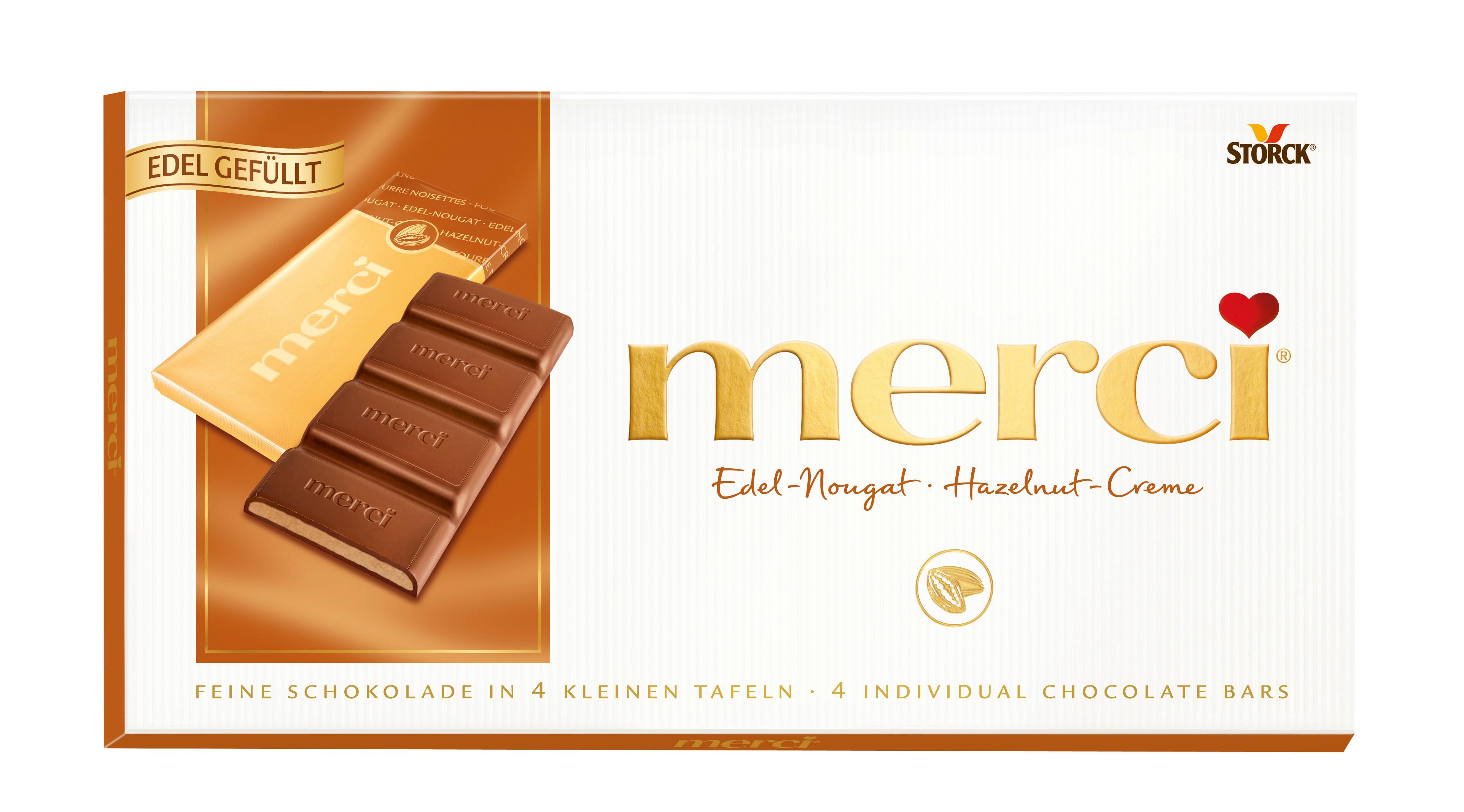 Набор конфет шоколадных Merci ореховый крем 112 г