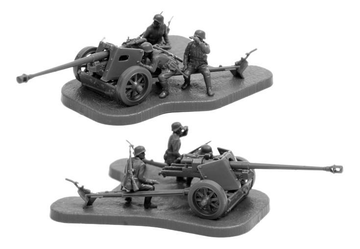 Игровой набор Немецкая противотанковая пушка ПАК-40 с расчетом Zvezda