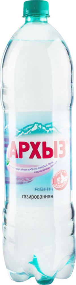 Вода минеральная питьевая Архыз газированная пластик 1.5 л