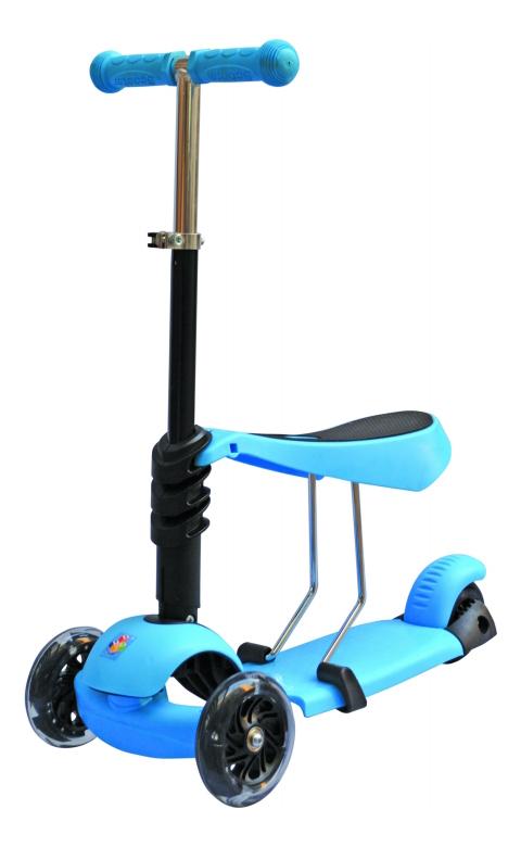 Кикборд детский 3 в 1 голубой 1 TOY Т59963