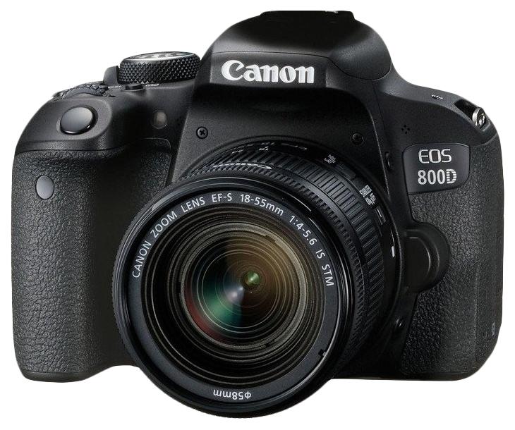Зеркальный фотоаппарат Canon EOS 800D 18-55 Black фото